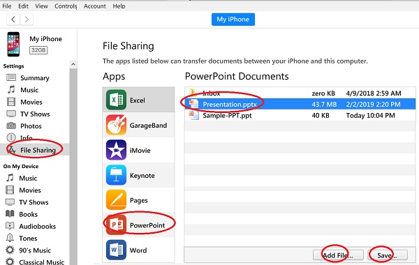 Manage iPhone PowerPoint Files with iTunes