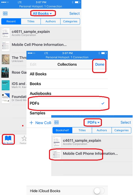 Open and Read PDF Books on iBooks