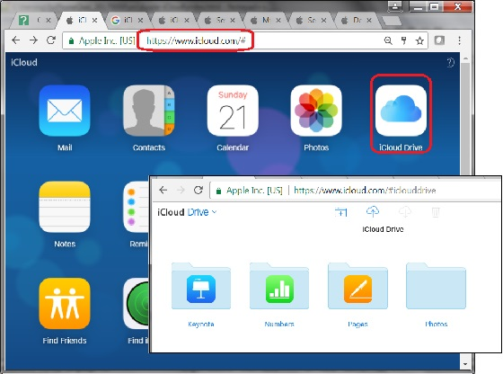 Accessing iCloud Drive with Web Browser