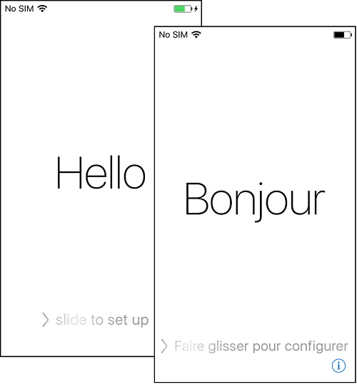 Apple iPhone 'Hello' Screen - Set Up Needed