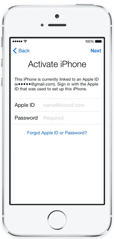 Used iPhone Activation Locked to Apple ID