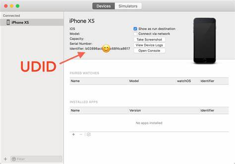 UDID of iPhone Displayed in iTunes