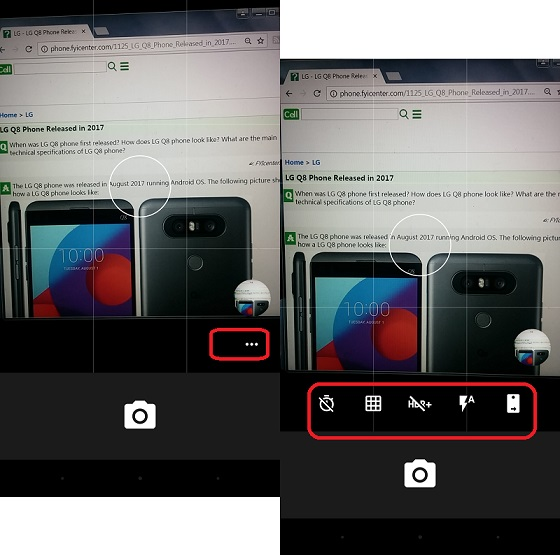 Access Picture Options on LG Phone Camera
