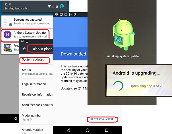 Update Android System on LG Phone
