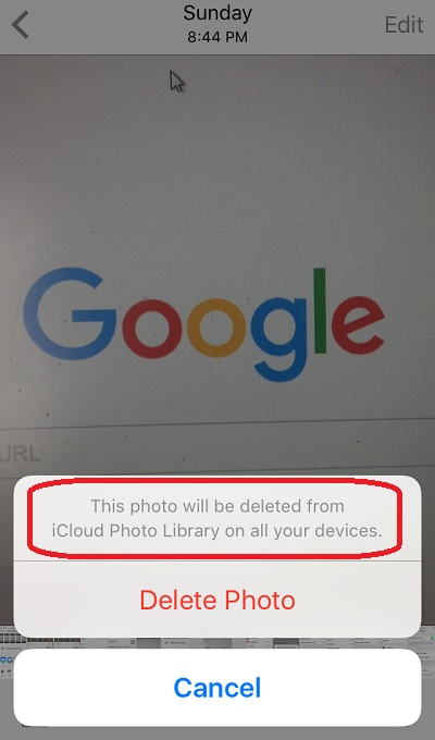 Don't Delete Photos Synchronized between iPhone and iCloud